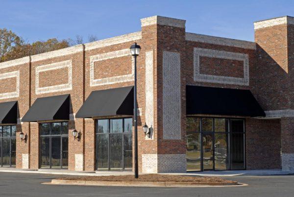 glass shopping center storefeont
