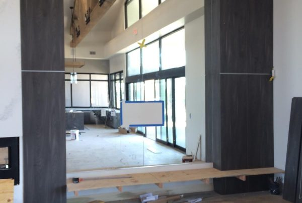 mirror installation by true view glass in community center